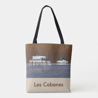 "bag ""Basin of Arcachon"" recto - ""LesCabanes"" back"