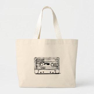 Bag - Cassette/K7 Vintage - Retro Cream White