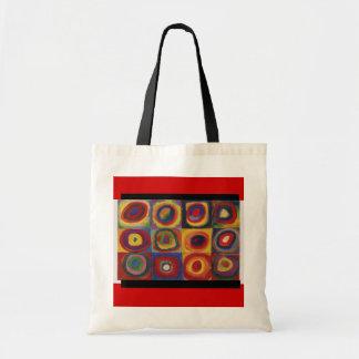 Bag-Classic Art-Kandinsky-Concentric Circles & Sq Budget Tote Bag