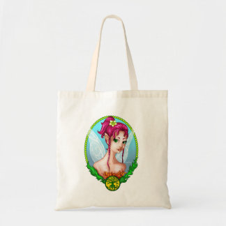 bag fairy with the pink hair