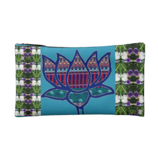 Bag for emergency touch-up Lotus Flower garden Cosmetics Bags