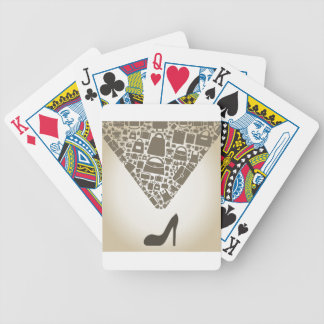 Bag from shoe bicycle playing cards