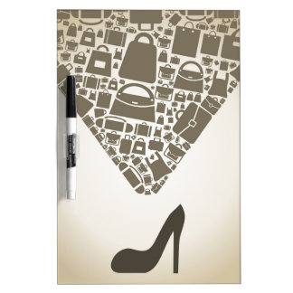 Bag from shoe dry erase board
