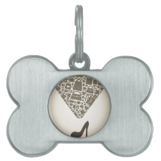Bag from shoe pet ID tag