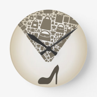 Bag from shoe round clock