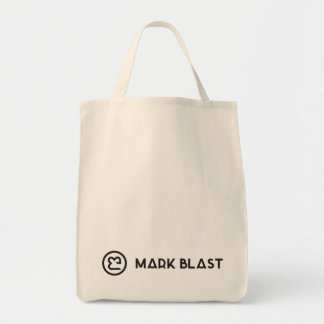Bag grocer black traditional logo