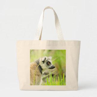 Bag - Grocery - White -Lemur- Ring Tailed