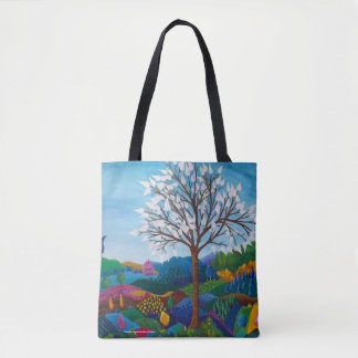 Bag hold-all the white tree