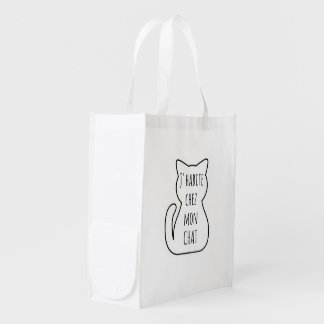 Bag in fabric: I live in my cat