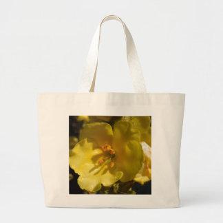 Bag:Macro Yellow Mullein Flower Jumbo Tote Bag