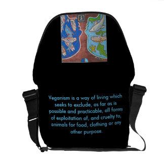 Bag Messenger vegan fish free Commuter Bag