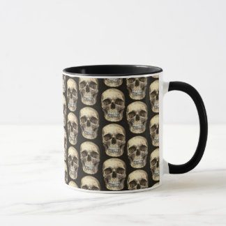 Bag of Bones Human Skull Coffee Mug Cup