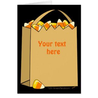 Bag of Candy Corn Fun Halloween Template