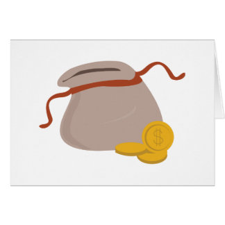 Bag Of Coins Greeting Card