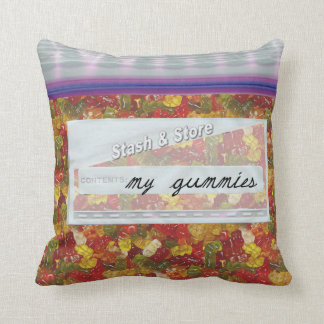 Bag of Gummy Bear Candy Decorative Throw Pillows