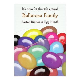 "Bag of Jelly Beans Easter Egg Hunt Invitation 5"" X 7"" Invitation Card"