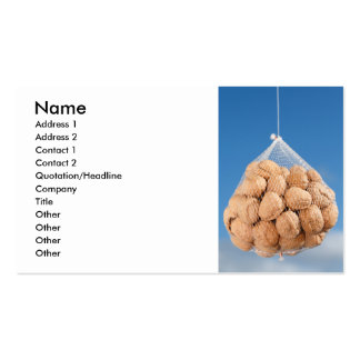 Bag of nuts business card template