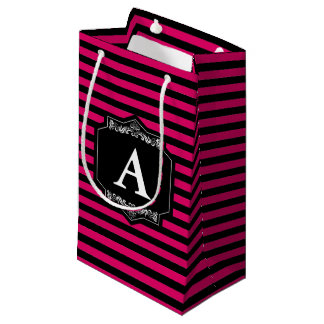Bag Present Pink Stripes Monogram