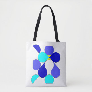 Bag reason geometrical blue and yellow
