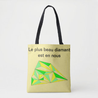 Bag self-confidence of yellow and green