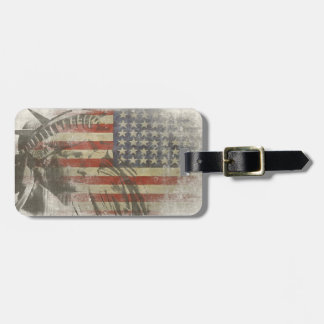 Bag Tag with Statue of Liberty on American Flag