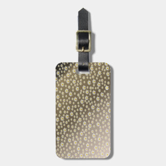 bag tag, woman, flowers + pattern, summer luggage tag