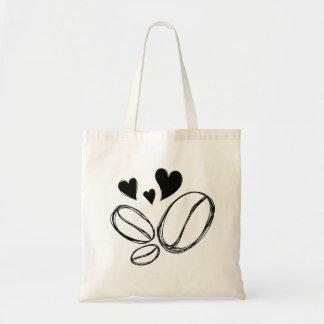 bag tot coffee lover bean hand drawn