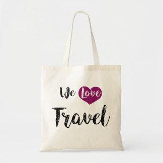 """Bag, """"We love Travel """" Tote Bag"""