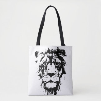 Bag with black and white print Leo