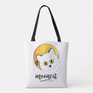 Bag with has cat in face off the yellow moon