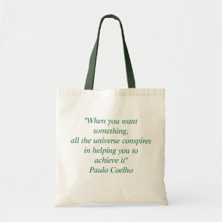 Bag with Paulo Coelho Quote