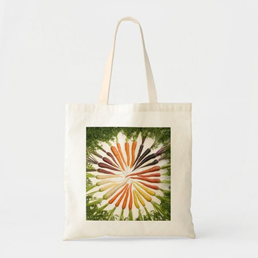 bag with rainbow of carrots