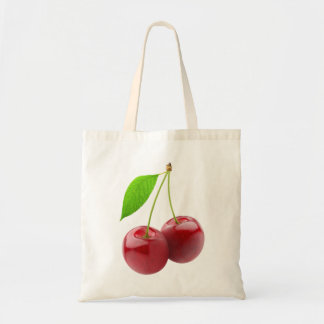 Bag with two sweet cherries