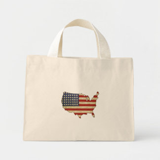Bag with Vintage American Flag