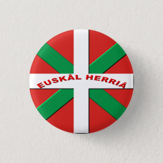 bagde flag Basque Country 3 Cm Round Badge