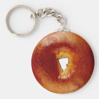 Bagel Basic Round Button Key Ring