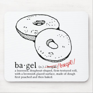Bagel Mouse Pad