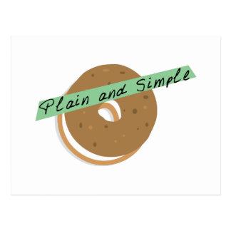 Bagel Plain And Simple Postcard