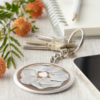 Bagel with Cream Cheese Key Ring