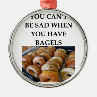 BAGELS METAL ORNAMENT