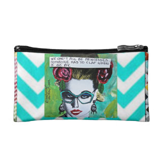 BAGETTE CASE-WE CAN'T ALL BE PRINCESSES. MAKEUP BA COSMETIC BAG