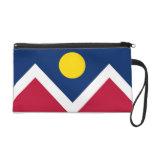 Bagettes Bag with Flag of Denver City, Colorado Wristlet Clutches