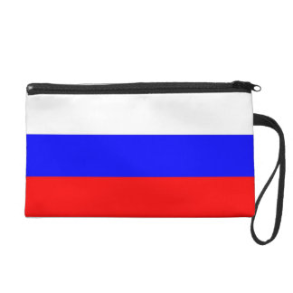 Bagettes Bag with Flag of Russia Wristlet