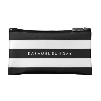 Baggette - KS Signature Nautical Black Makeup Bag