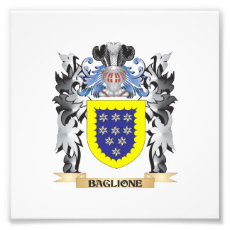 Baglione Coat of Arms - Family Crest Photographic Print