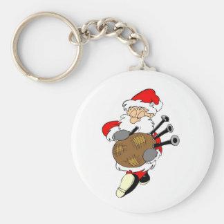 Bagpipe Irish Santa Claus Key Ring