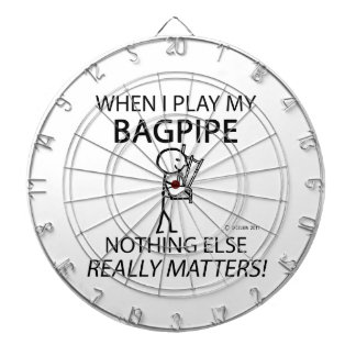 Bagpipe Nothing Else Matters Dartboard With Darts