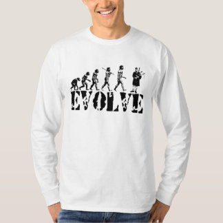 Bagpipe Pipers Bagpiper Musical Evolution Art T-Shirt