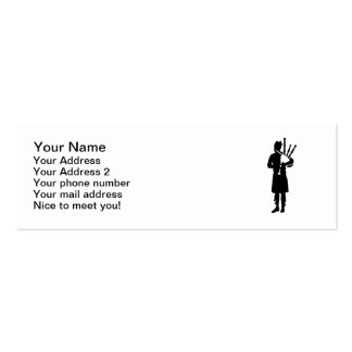 Bagpipe player business card templates