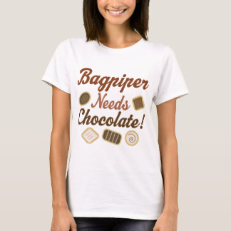 Bagpiper Chocolate T-Shirt